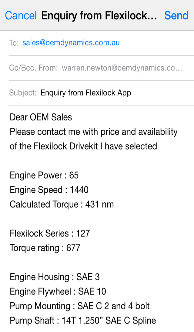 iPhone App for drive kit selection - OEM Dynamics
